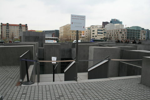 Holocaust Memorial, entrance