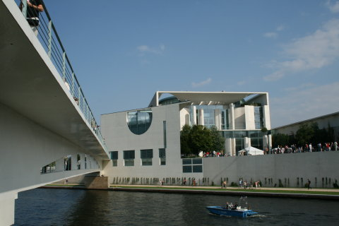 Bundeskanzleramt, Berlin, view from Spree